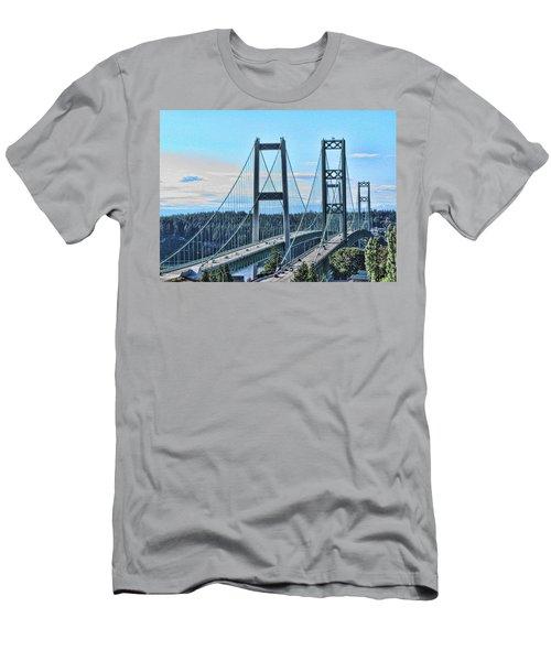 Tacoma Narrows Bridge 51 Men's T-Shirt (Athletic Fit)