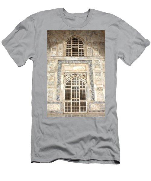 Men's T-Shirt (Athletic Fit) featuring the photograph Taj Mahal Facade - Agra - India by Aidan Moran