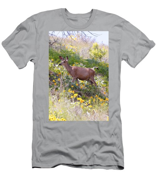 Men's T-Shirt (Slim Fit) featuring the photograph Taking A Stroll In The Country by Athena Mckinzie