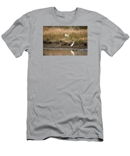 Men's T-Shirt (Slim Fit) featuring the photograph Taking Flight by Rebecca Davis