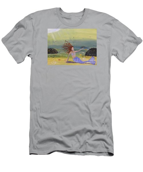 Talking To The Fishes Men's T-Shirt (Slim Fit) by Pamela  Meredith