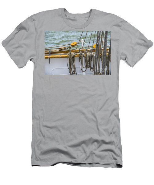 Men's T-Shirt (Slim Fit) featuring the photograph Tall Ship Rigging by Dale Powell
