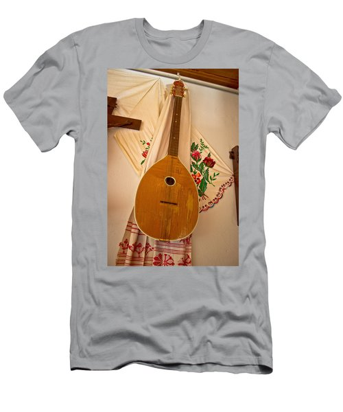 Tamburica Croatian Traditional Music Instrument Men's T-Shirt (Athletic Fit)