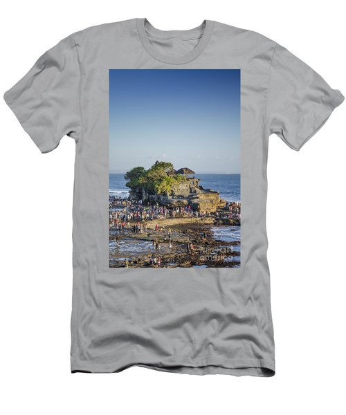 Tanah Lot Temple In Bali Indonesia Coast Men's T-Shirt (Athletic Fit)