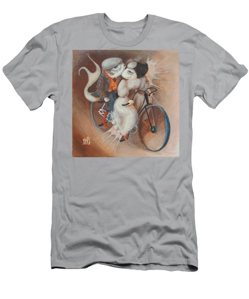 Men's T-Shirt (Slim Fit) featuring the painting Tandem by Marina Gnetetsky