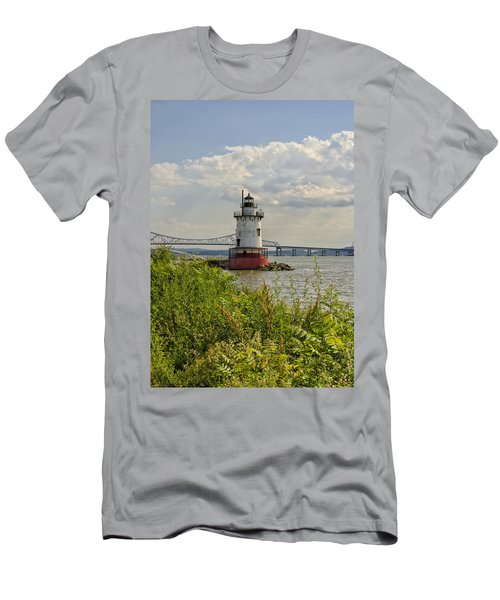 Tarrytown Lighthouse And The Tappan Zee Bridge Men's T-Shirt (Athletic Fit)
