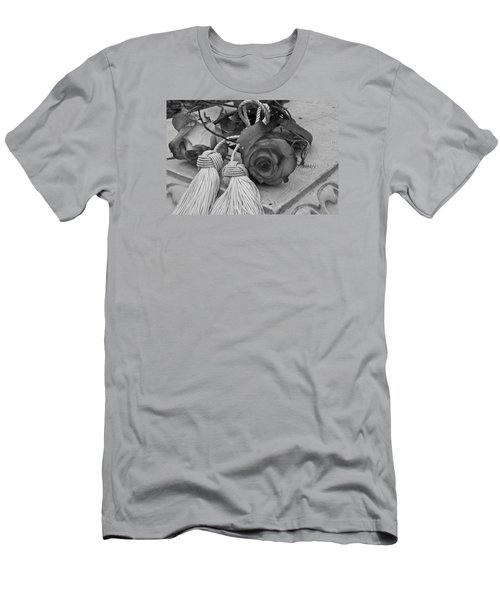 Men's T-Shirt (Slim Fit) featuring the photograph Tassels And Roses Beauty by Sandra Foster