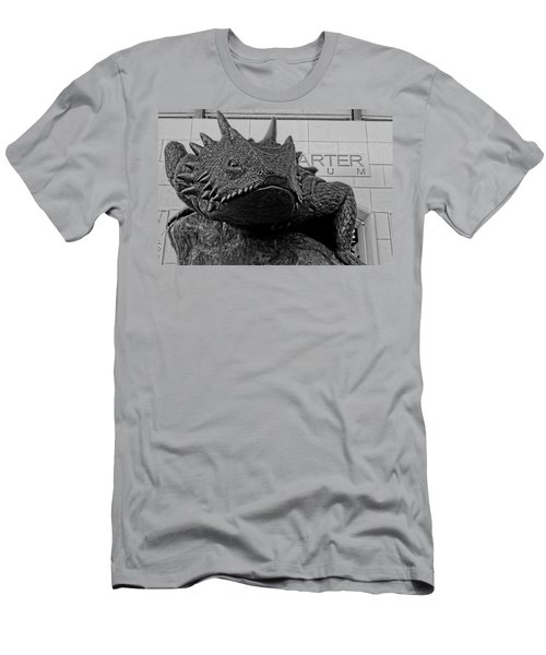Tcu Horned Frog Black And White Men's T-Shirt (Athletic Fit)