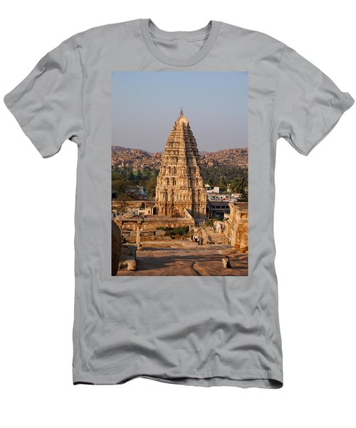Temple At Hampi Men's T-Shirt (Slim Fit) by Carol Ailles