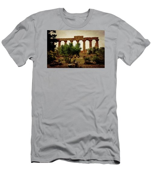 Temple Of Juno Lacinia In Agrigento Men's T-Shirt (Athletic Fit)