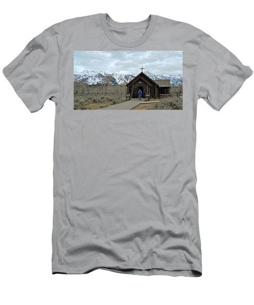 Tetons Chapel Of The Transfiguration Men's T-Shirt (Athletic Fit)