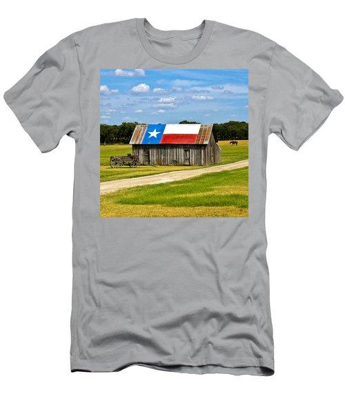 Texas Barn Flag Men's T-Shirt (Athletic Fit)