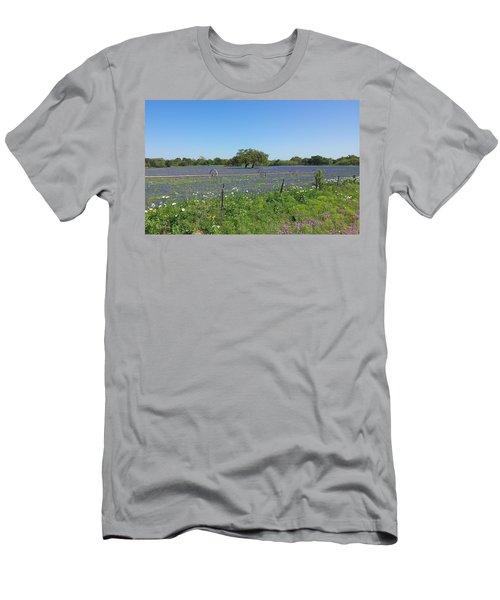 Texas Blue Bonnets Men's T-Shirt (Athletic Fit)