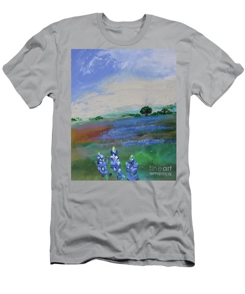 Texas Bluebonnets Men's T-Shirt (Athletic Fit)