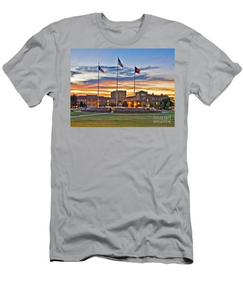 Men's T-Shirt (Athletic Fit) featuring the photograph Memorial Circle At Sunset by Mae Wertz
