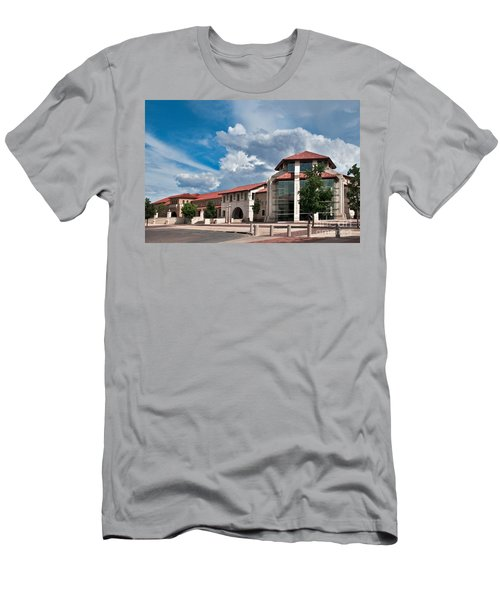 Men's T-Shirt (Athletic Fit) featuring the photograph Texas Tech Student Union by Mae Wertz
