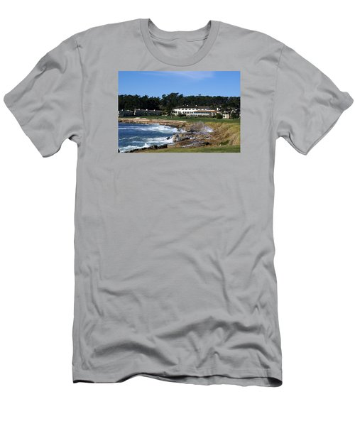 The 18th At Pebble Beach Men's T-Shirt (Slim Fit) by Barbara Snyder