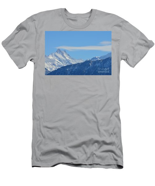The Alps In Azure Men's T-Shirt (Slim Fit) by Felicia Tica