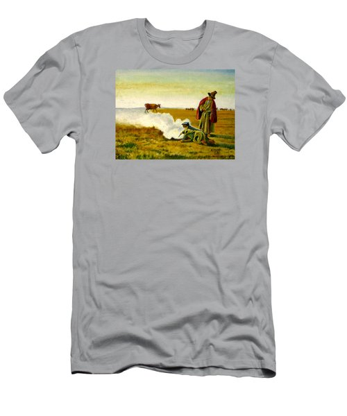 Men's T-Shirt (Slim Fit) featuring the painting The Autumn by Henryk Gorecki