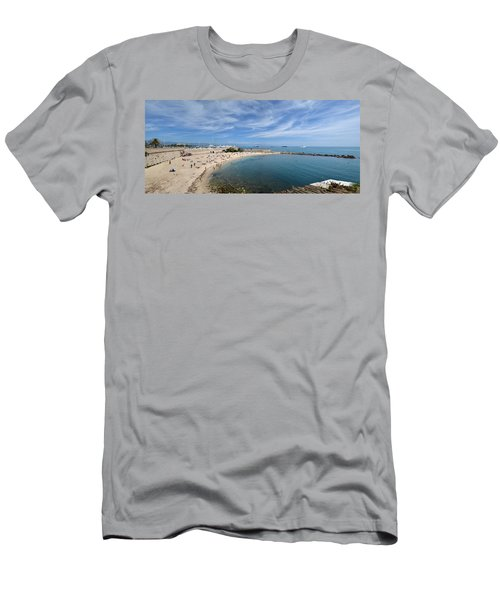 Men's T-Shirt (Slim Fit) featuring the photograph The Beach At Cap D' Antibes by Allen Sheffield