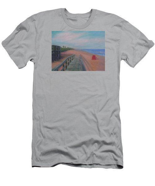 The Beach At Flagler Beach Men's T-Shirt (Athletic Fit)
