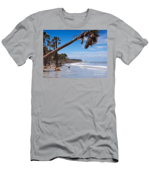 The Beach At Hunting Island State Park Men's T-Shirt (Athletic Fit)