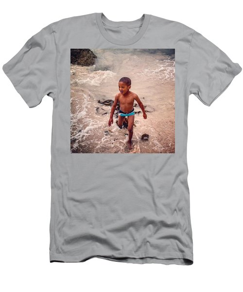 The Beach, Cape Town, South Africa Men's T-Shirt (Athletic Fit)