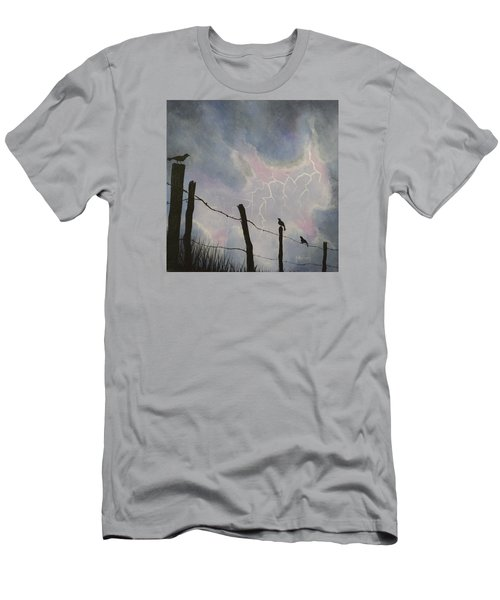 The Birds - Watching The Show Men's T-Shirt (Slim Fit) by Jack Malloch
