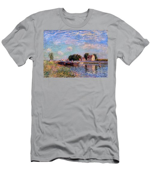 The Canal At Saint-mammes Men's T-Shirt (Athletic Fit)