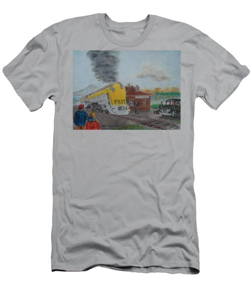 The Chesapeake And Ohio George Washington At South Portsmouth Station Men's T-Shirt (Athletic Fit)