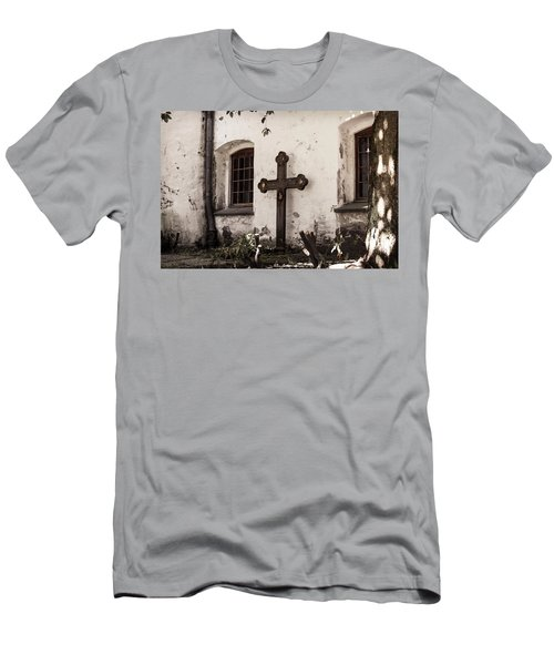 The Church Courtyard Men's T-Shirt (Athletic Fit)
