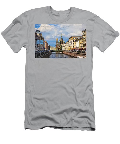 The Church Of Our Savior On Spilled Blood - St. Petersburg - Russia Men's T-Shirt (Slim Fit) by Madeline Ellis