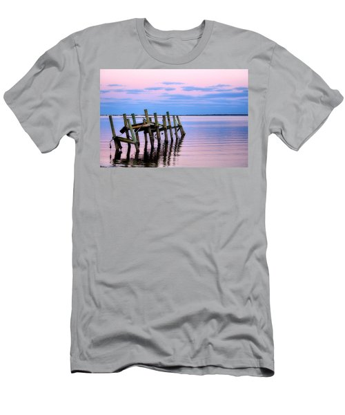 Men's T-Shirt (Slim Fit) featuring the photograph The Cove Dock by Brian Hughes