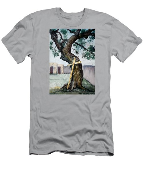 Da216 The Cross And The Tree By Daniel Adams Men's T-Shirt (Athletic Fit)