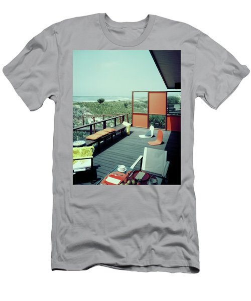 The Deck Of A Beach House Men's T-Shirt (Athletic Fit)
