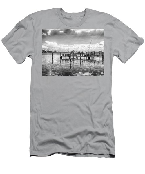 Men's T-Shirt (Athletic Fit) featuring the photograph The Dock by Howard Salmon