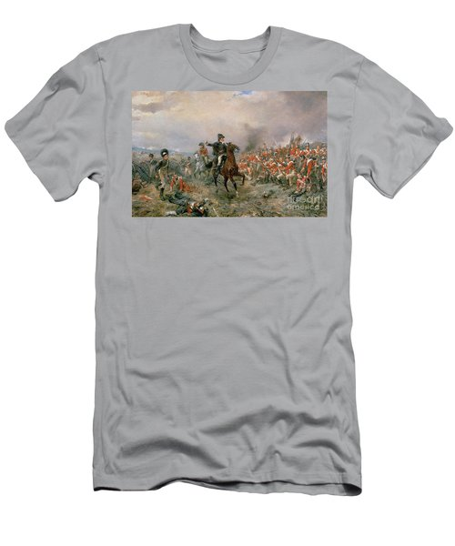 The Duke Of Wellington At Waterloo Men's T-Shirt (Athletic Fit)