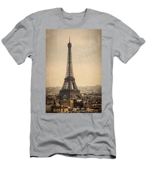 The Eiffel Tower In Paris France Men's T-Shirt (Athletic Fit)