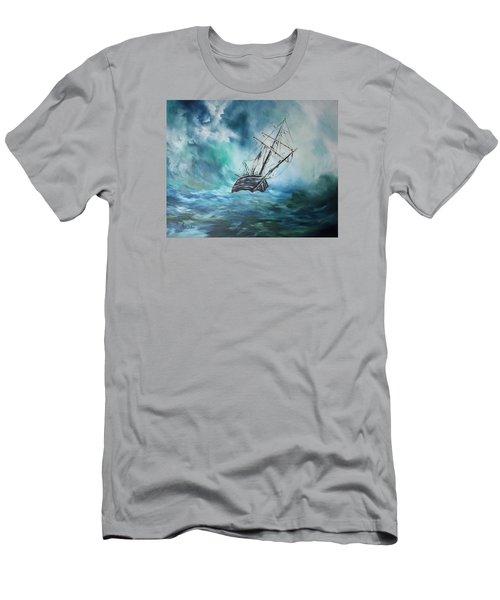 The Endurance At Sea Men's T-Shirt (Slim Fit) by Jean Walker