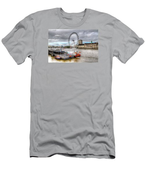 The Eye Across The Thames Men's T-Shirt (Slim Fit) by Tim Stanley
