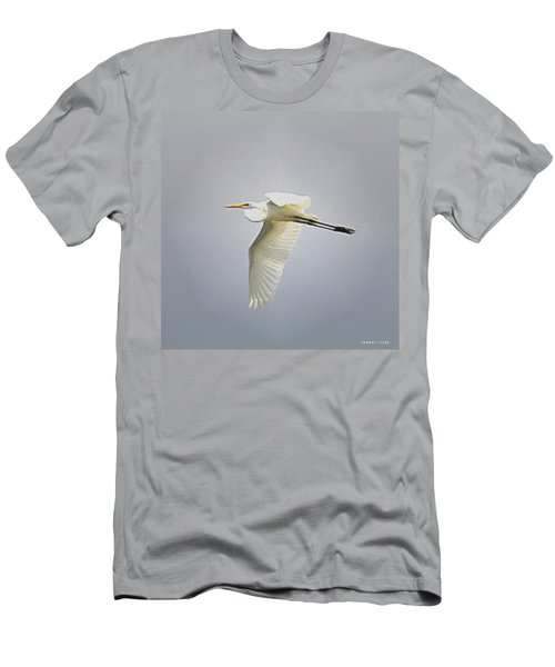 The Flight Of The Great Egret With The Stained Glass Look Men's T-Shirt (Athletic Fit)