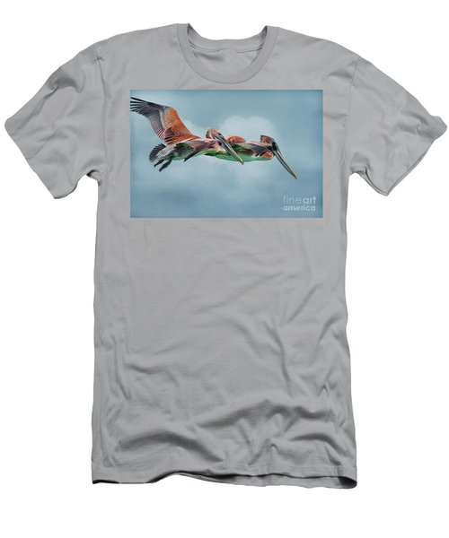 The Flying Pair Men's T-Shirt (Slim Fit) by Deborah Benoit