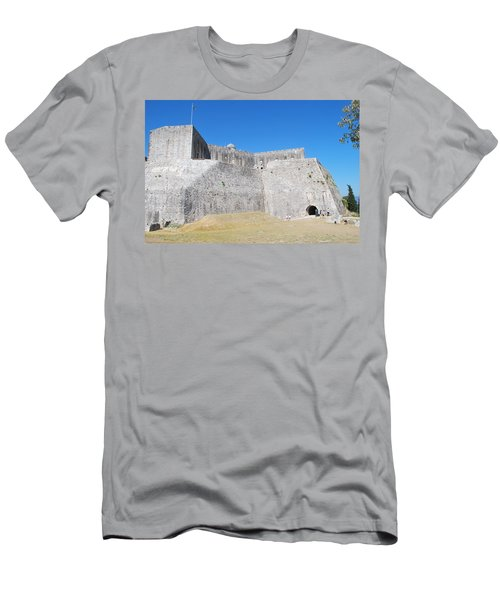 Men's T-Shirt (Slim Fit) featuring the photograph The Fort Never Fell by George Katechis