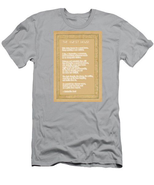 The Guest House Poem By Rumi Men's T-Shirt (Slim Fit) by Celestial Images