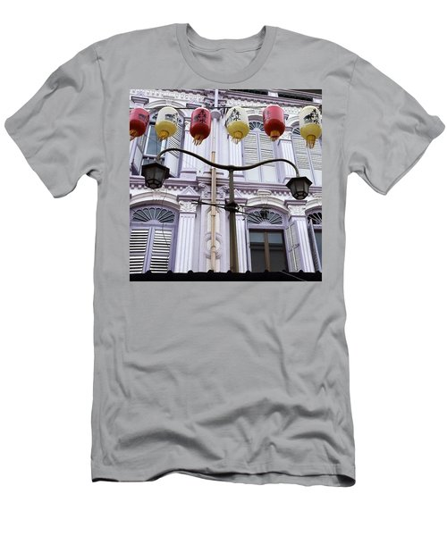 The Lamp, Singapore Men's T-Shirt (Athletic Fit)