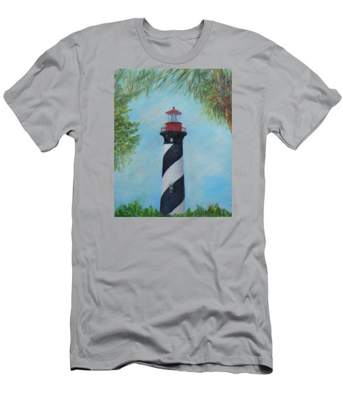 The Lighthouse In St. Augustine Florida Men's T-Shirt (Athletic Fit)