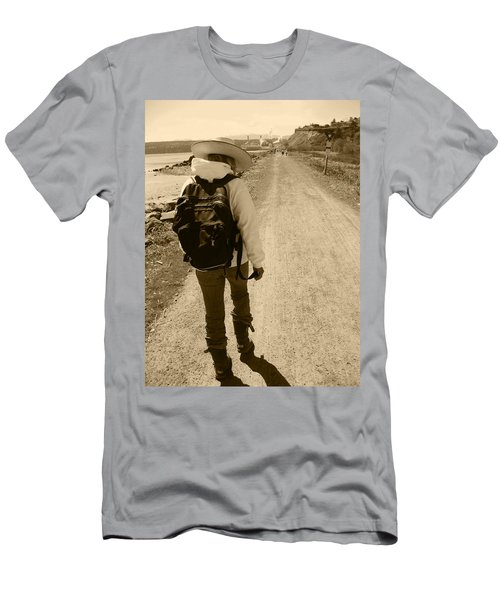 The Long And Winding Road Men's T-Shirt (Slim Fit) by Kym Backland