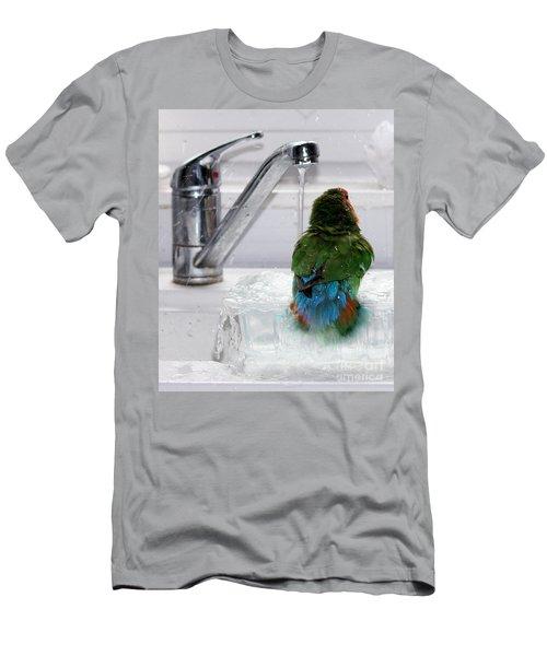 The Lovebird's Shower Men's T-Shirt (Athletic Fit)