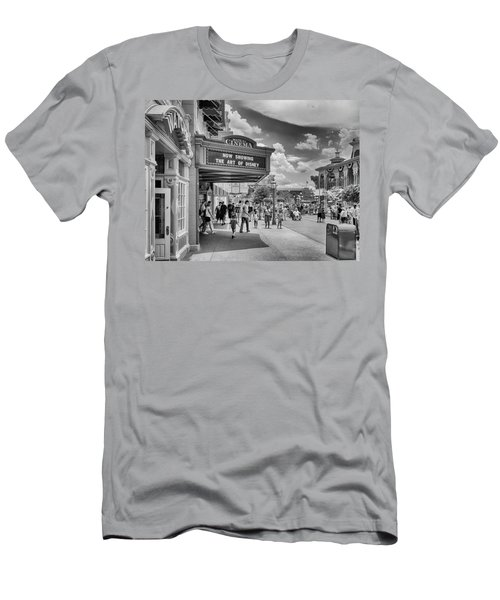 Men's T-Shirt (Athletic Fit) featuring the photograph The Main Street Cinema by Howard Salmon