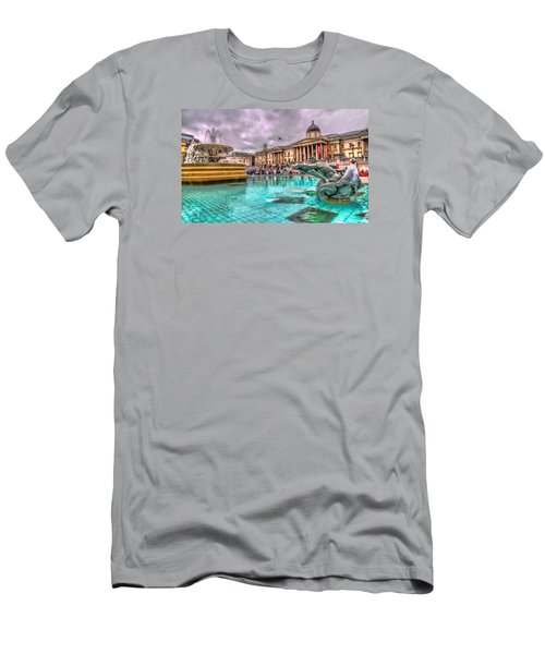 The National Gallery In Trafalgar Square Men's T-Shirt (Slim Fit) by Tim Stanley